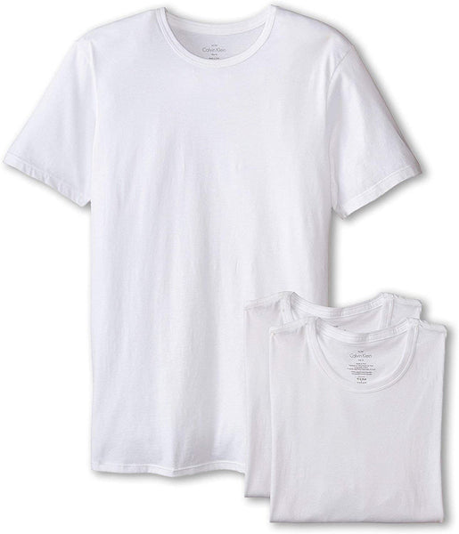 Calvin Klein Men`s Cotton Crew Neck Classic Fit T-Shirts 3 Pack