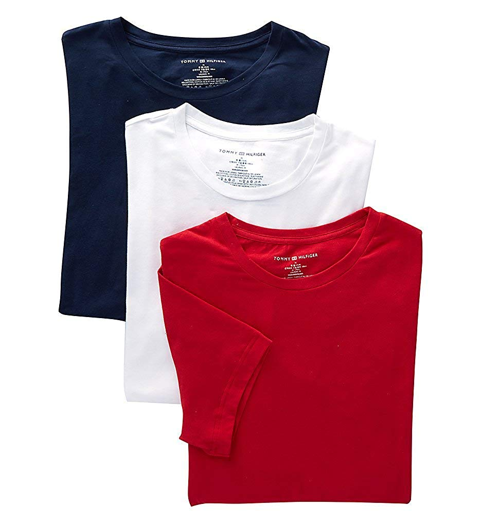 Tommy Hilfiger Men's Undershirts 3 Pack Cotton Stretch Classic Crew Neck Tee