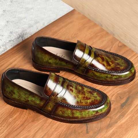 Penny Loafers - Green