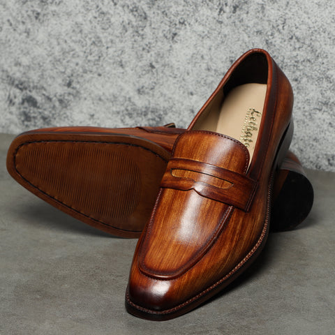 Penny Loafers in Tan