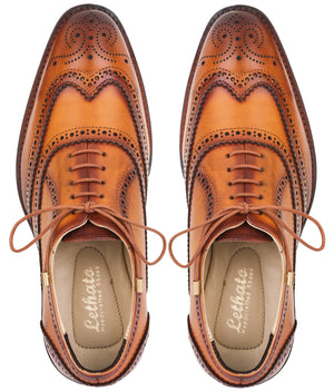 Wingtip Brogue Oxford- Tan