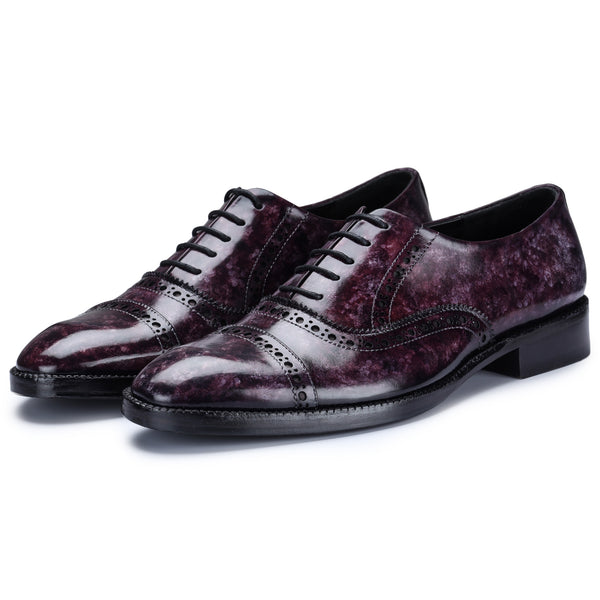 Classic Captoe Oxford - Purple