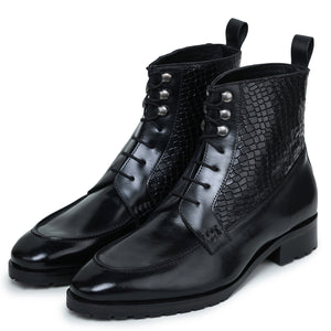 Split Toe Derby Boots - Black