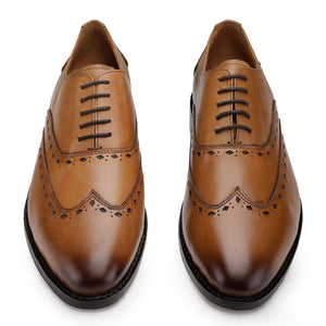 Wingtip Oxford Goodyear Welted- Tan