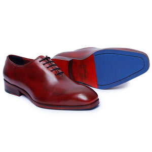 Wholecut Oxford Dress Shoes for Men- Wine Red