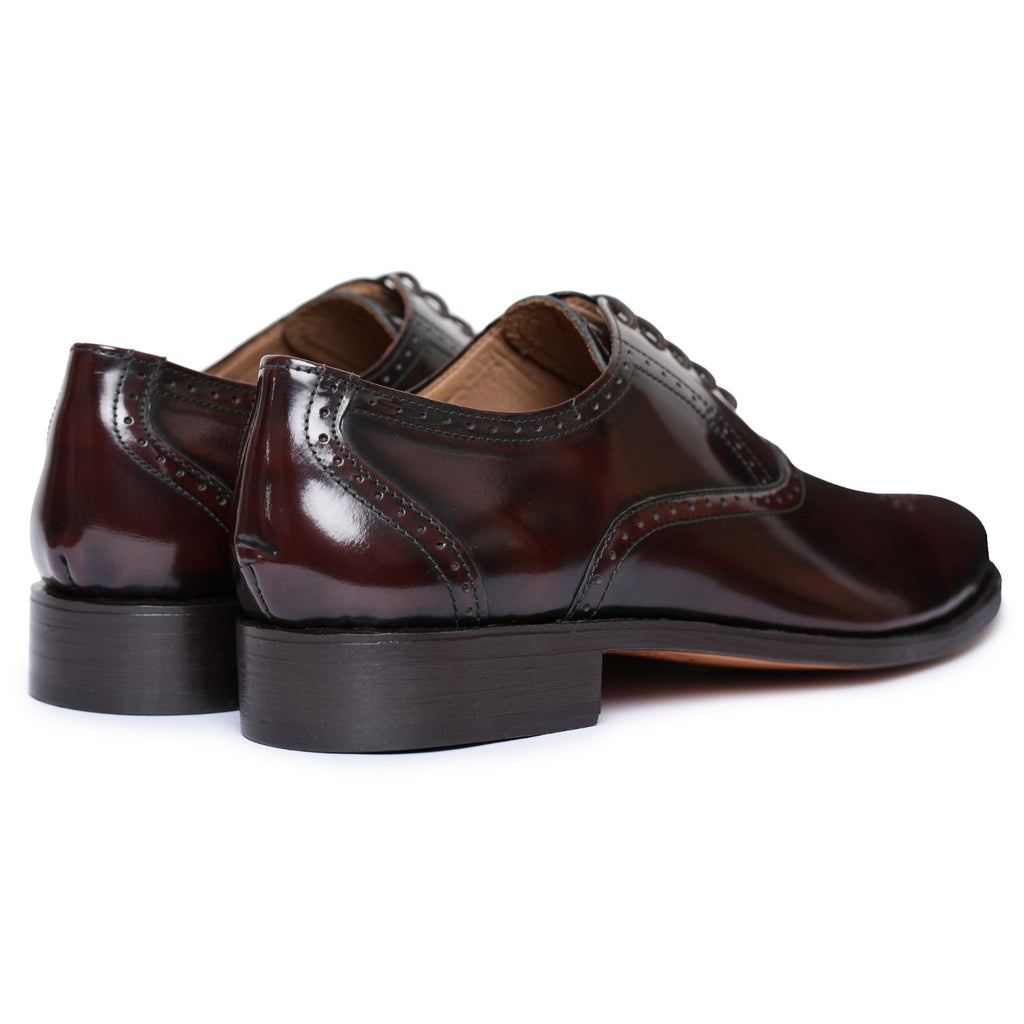 Goodyear Welted Brogue Oxford Formal Dress Shoes - Burgundy