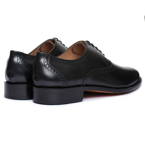 Medallion Toe Goodyear Welted- Black