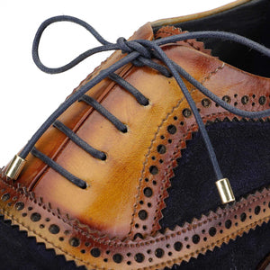 Wingtip Brogue Oxford- Navy Suede