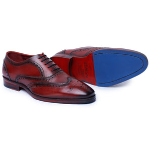Wingtip Brogue Oxford- Wine Red