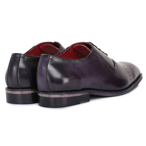 Medallion Toe Oxford- Purple
