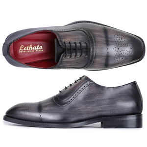 Medallion Toe Oxford- Gray