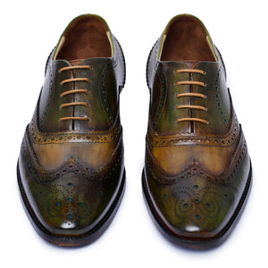 Wingtip Brogue Oxford- Green