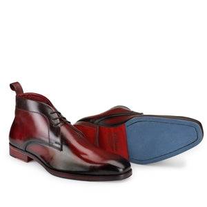 Chukka Boots- Wine Red