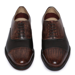 Captoe Oxford Classic Dress Shoes- Brown