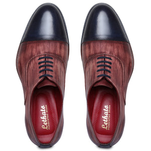 Captoe Oxford Classic Dress Shoes- Red
