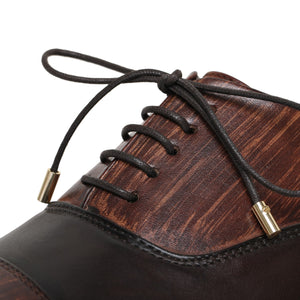 Captoe Oxford Classic Dress Shoes- Dark Brown