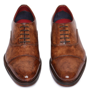 Captoe Oxford Classic Dress Shoes - Brown