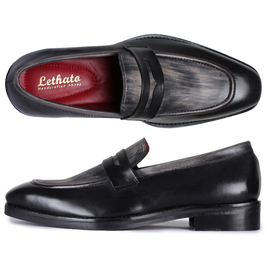 Penny Slip On Loafers for Men- Black