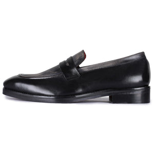 Penny Slip On Loafers - Black