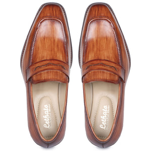 Penny Slip On Loafers - Tan