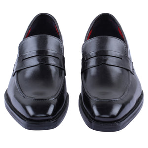Penny Slip On Loafers - Dark Black