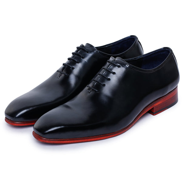 Wholecut Oxford Dress Shoes for Men- Black