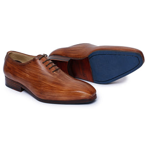 Wholecut Oxford Dress Shoes for Men- Wooden