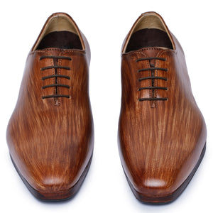 Wholecut Oxford Dress Shoes- Wooden
