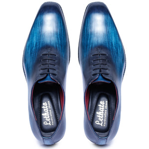Wholecut Oxford Dress Shoes for Men- Navy