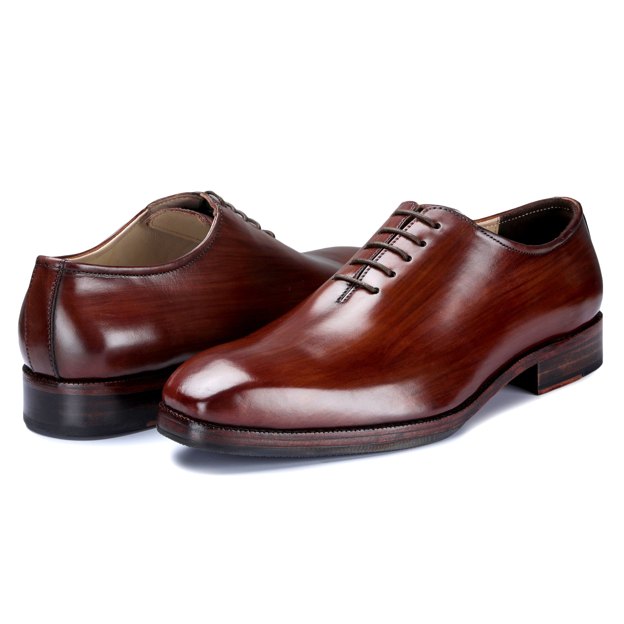Custom made shoes hand painted wholecut oxford lace up shoes
