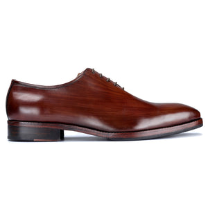 Wholecut Oxford Dress Shoes for Men- Brown