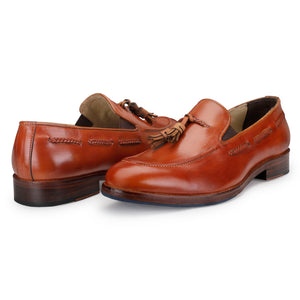 Tassel Loafers - Tan