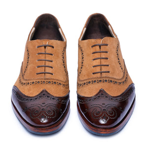 Wingtip Brogue Oxford- Tan Suede
