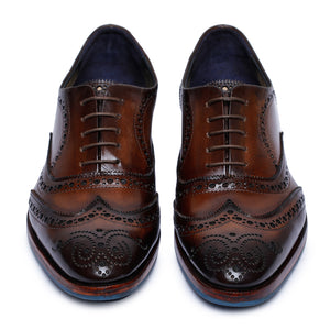 Wingtip Brogue Oxford- Dark Brown