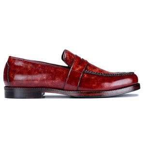 Penny Loafers - Reddish Brown