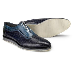 Oxford Sneakers- Crocodile Navy
