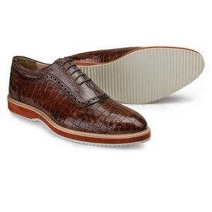 Oxford Sneakers- Crocodile Brown
