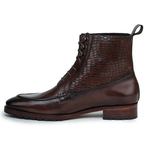 Split Toe Derby Boots - Brown