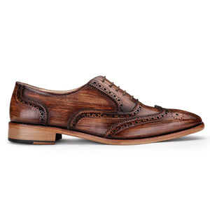 Wingtip Brogue Oxford - Wooden