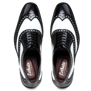 Spectator Wingtip Brogue Oxford - Black & White