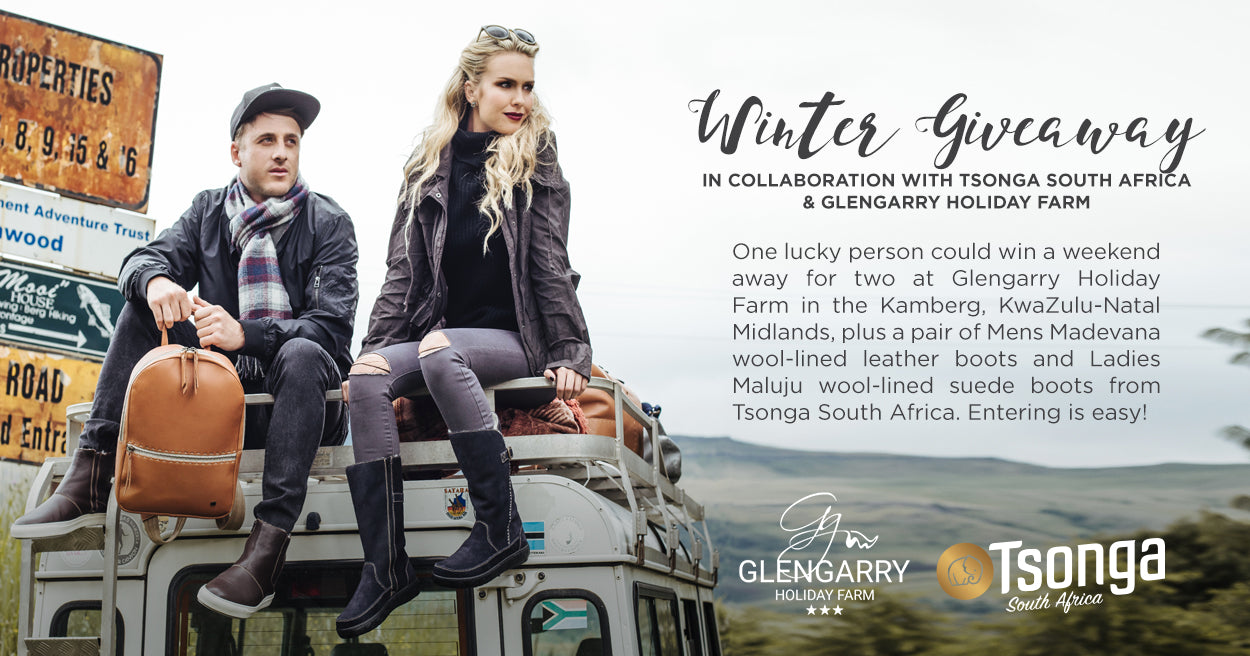 Win with Tsonga South Africa & Glengarry Holiday Farm!