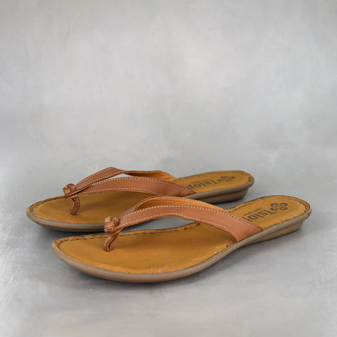 Consa : Ladies Leather Sandal in Rose Cayak