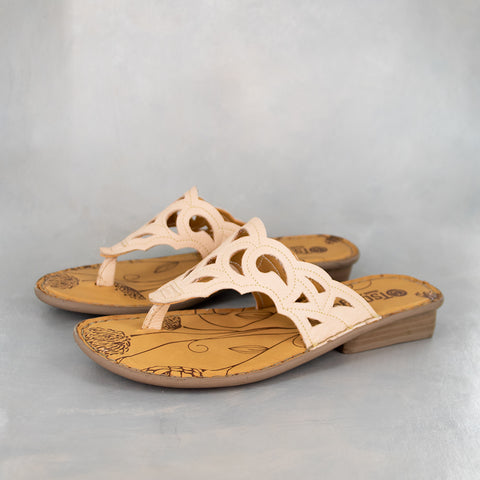 Ishadi : Ladies Leather Tslops Sandals in Hazel Relaxa