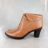 Ikhabethe : Ladies Leather High-Heel Boot in Hazel Relaxer