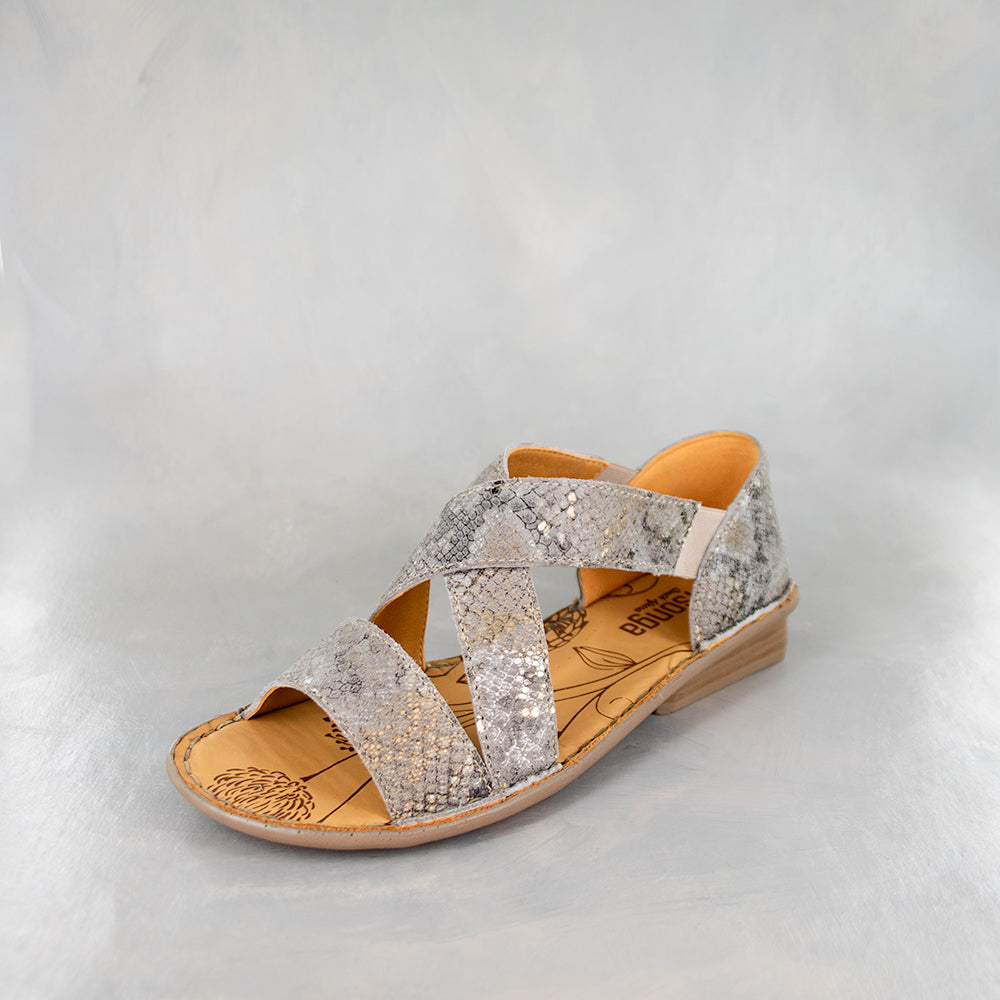 Intuva : Ladies Leather Sandal in Opal Rockafella