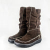 Mbhazo : Ladies 100% Wool-Lined Boot in Choc Suede