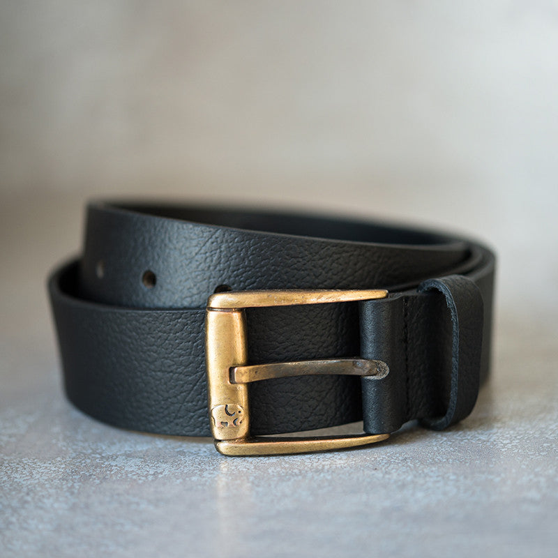 Mens Belt in Black Leather