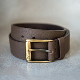 Mens Belt in Brown Leather