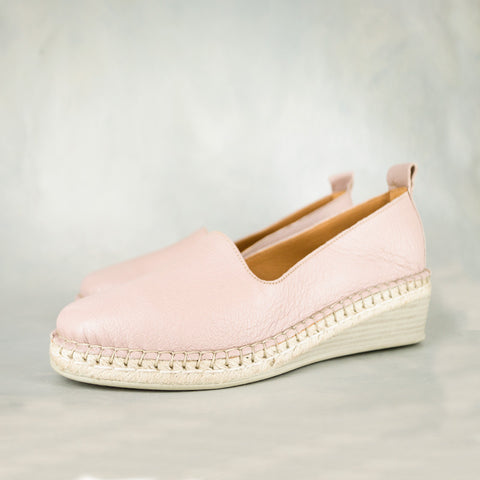 Mfimfa : Ladies Leather Wedge Espadrille in Highrise Vintage