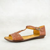 Venge : Ladies Leather Sandal in Sable Relaxa